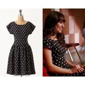 Anthropologie Lili's Closet Dropped Dots Dress
